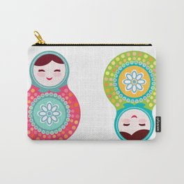 dolls matryoshka, pink and blue colors Carry-All Pouch