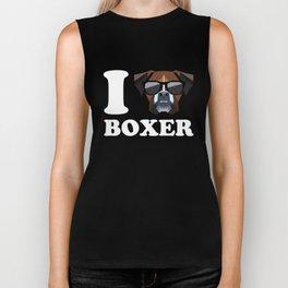 I Love Boxer modern v2 Biker Tank