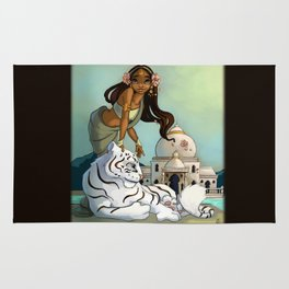 Indian and white tiger Rug