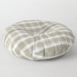 Watercolor Brushstroke Plaid Pattern Pantone Martini Olive Green 18-0625 Floor Pillow