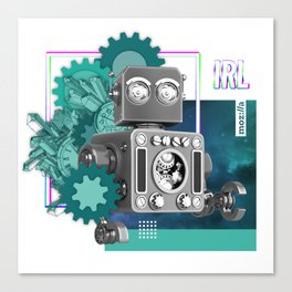 Bots in IRL Canvas Print