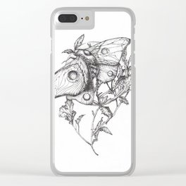 Moon Moth Clear iPhone Case