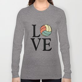 Volleyball Love - Vintage Sport Ball Design Long Sleeve T-shirt