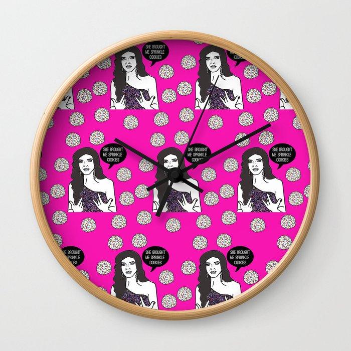 Sprinkle Cookies Wall Clock