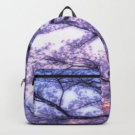 Periwinkle Lavender Flower Tree Backpack