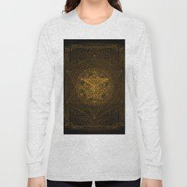 Dark Matter - Gold - By Aeonic Art Long Sleeve T-shirt