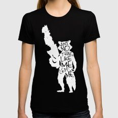 What's a Raccoon? MEDIUM Womens Fitted Tee Black
