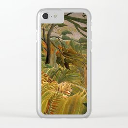 """Henri Rousseau """"Tiger in a Tropical Storm (Surprised!)"""", 1891 Clear iPhone Case"""