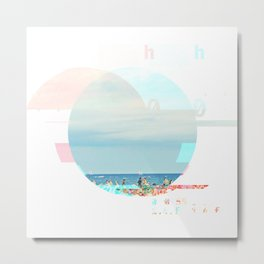 GLITCH NATURE #79: Barcelona Metal Print