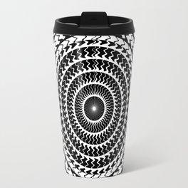 Mandala ...black and white Travel Mug