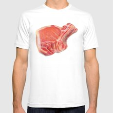 Meat White Mens Fitted Tee SMALL
