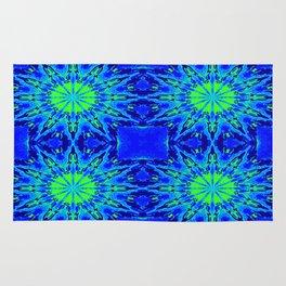 Green & Blue Starburst Series Rug