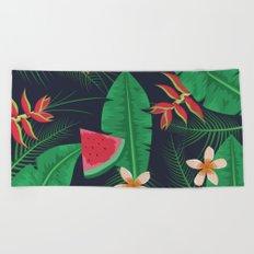 Tropical Watermelon Beach Towel