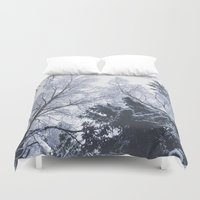 cities Duvet Covers featuring Scared cities by HappyMelvin