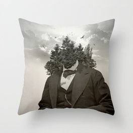 Head in the clouds II Throw Pillow