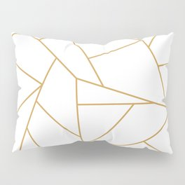 Geometric Gold Hexagon Pattern Pillow Sham