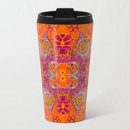 Boho Hippie Garden Pattern Travel Mug