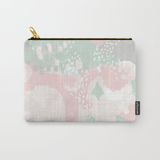 Alexei - abstract minimal modern painting splash dots stripes painterly art Carry-All Pouch