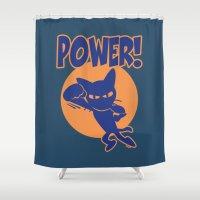 power Shower Curtains featuring Power! by BATKEI
