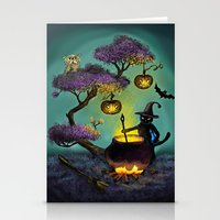 halloween Stationery Cards featuring Halloween by Anna Shell