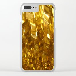 Gold Ceiling Clear iPhone Case