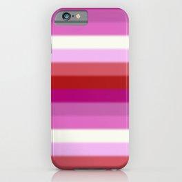 Lesbian Pride Flag v2 iPhone Case