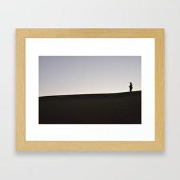 055 alone Framed Art Print
