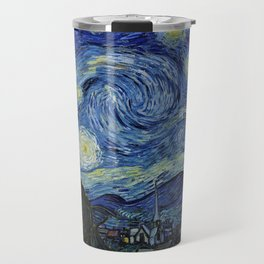 Classical Masterpiece 'Starry Night' by Vincent van Gogh Travel Mug
