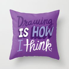 How I Think Throw Pillow