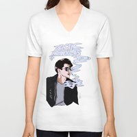 arctic monkeys V-neck T-shirts featuring Arctic Monkeys- Up in Smoke by Tune In Apparel