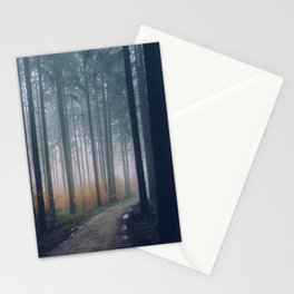 Into the woods #fog Stationery Cards