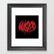 Bloody.Logo. Framed Art Print