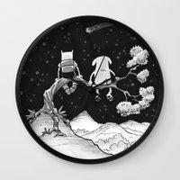 finn and jake Wall Clocks featuring finn & jake by jasminevn