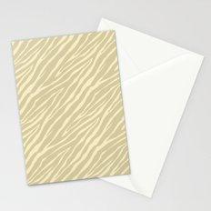 Gold Zebra Print Stationery Cards