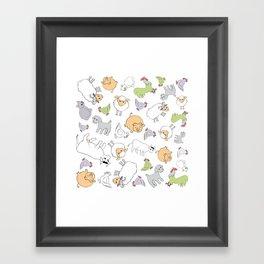 The Little Farm Animals Framed Art Print