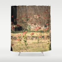 poppy Shower Curtains featuring Poppy by Four Hands Art