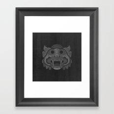 Protector - Mono Framed Art Print