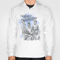 cyrilliart Hoodies featuring The Brotherhood of the Traveling Sweater by Cyrilliart