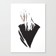White Hair Canvas Print