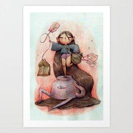 Teabag Conqueror Art Print