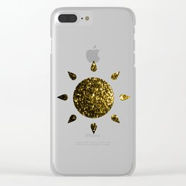 Beautiful Yellow Gold sparkles Clear iPhone Case