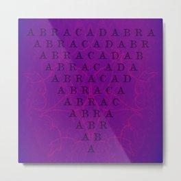 Abracadabra Reversed Pyramid in Violets Metal Print