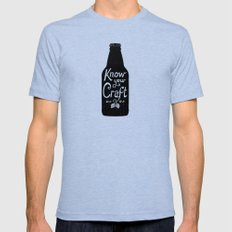 Know Your Craft Mens Fitted Tee Tri-Blue LARGE