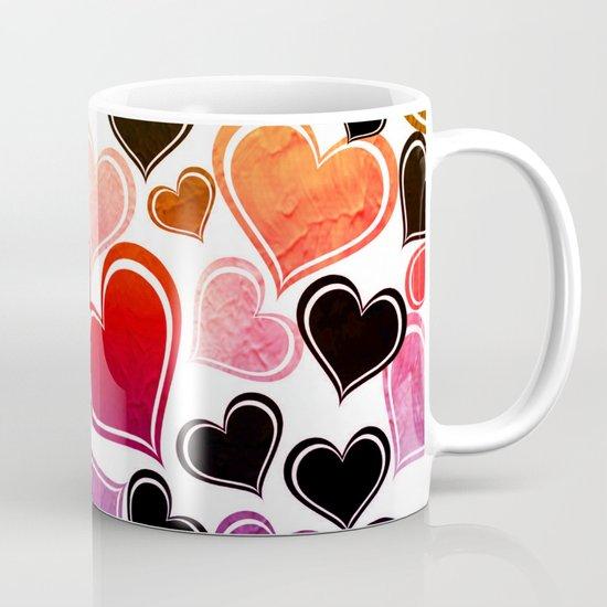 Funky hearts coffee mug by samantha lynn society6 - Funky espresso cups ...