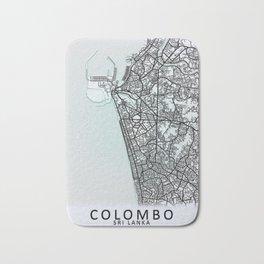 Colombo, Sri Lanka, White, City, Map Bath Mat