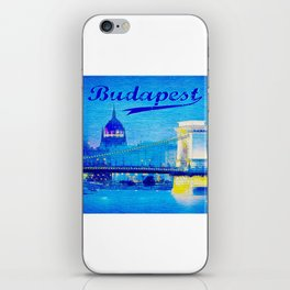 Budapest, light blue iPhone Skin
