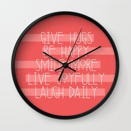 Daily Guide In Coral Wall Clock