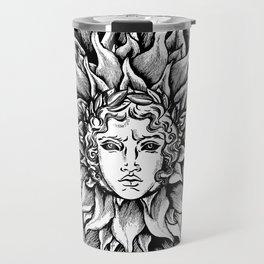 Apollo Sun God Black and white Travel Mug