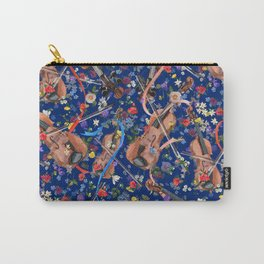 Midsummer Night Festival | Navy w Ribbons Carry-All Pouch
