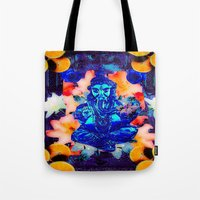 ganesh Tote Bags featuring ganesh by CandiCollage